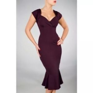 Stop Staring Lula 40's style pin-up wiggle dress